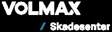 Volmax skadesenter logo hvit